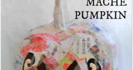Papírmasé halloween tök készítés