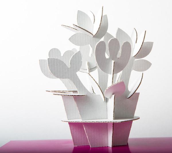 KreARTON_karton_virág_dekoráció_cardboard_plant_decoration0006