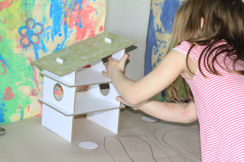 DIY babaházak polcból | baniko műhelye
